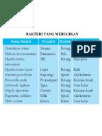 charta penyakit bakteri