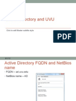 Active Directory and UVU