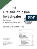 NAFI Fire Investigator