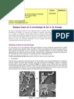Quelques Bases Sur La Microbiologie Du Lait Et Du Fromage