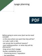 Voyage Planning
