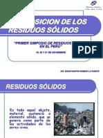 COMPOSICION DE LOS RESIDUOS SÓLIDOS