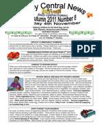 Newsletter Autumn 8 2011