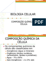 BIOLOGIA CELULAR-composição química da céula