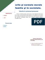 4.Valorile Si Normele Morale in Familie, Societate
