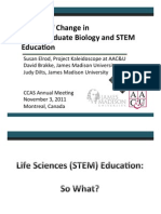 Drivers for Change in Undergraduate Life Science and STEM Education