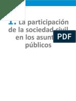 1. Participación de la sociedad civil en los asuntos públicos