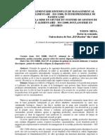 Etapele Implementarii ISO 22000 in Intreprinderile de Panificatie