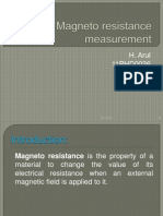 Magneto Resistance Measurement