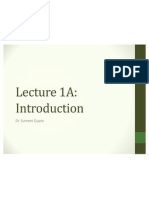 Lecture 1A Introduction