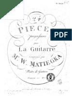 MATIEGKA - Op 20 Ventquatre Pieces Progressives Vol 1 (Guitar - Chitarra)