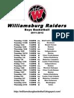 Williamsburg Varsity 11-12