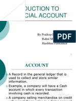 Introduction to Financial Account