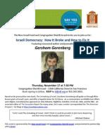 NIF Gershom Gorenberg Flyer - Sherith Israel - 11.17-1