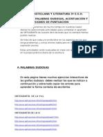 ACTIVIDADES DE ORTOGRAFÍA 3º ESO