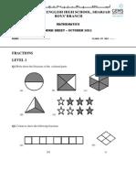 Worksheet Fraction