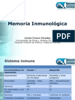 Memoria Inmunológica