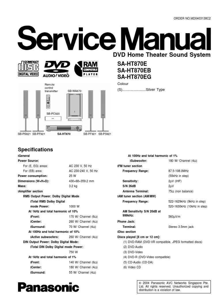 Panasonic dmr-ex77en ex87en service manual download, schematics.