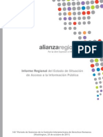 Informe Regional sobre Acceso a la Información