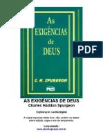 As exigências de Deus - C. H. Spurgeon