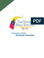Plan Nacional Del Buen Vivir - Parte 1