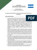 Reporte Elecciones Nicaragua UE