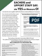 Measure O Teachers and Staff YES