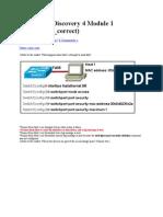 Cisco Ccna Discovery 4 Module 1 Exam