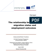 The relationship between migration status and employment outcomes