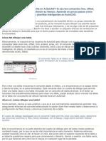 Tablas AutoCAD