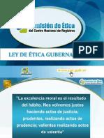 Presentación de Charla Ley de Ética NUEVO INGRESO