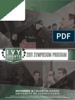2011 Ivy Sports Symposium Program