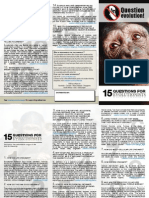 15 Questions for Evolutionists s