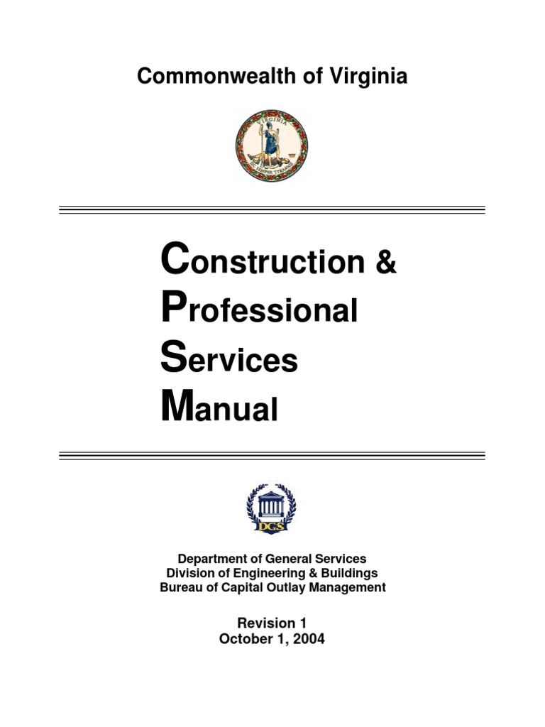 cpsm construction management hvac rh scribd com state of virginia construction and professional services manual Professional Construction Services Ripley WV