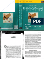 Anastasi & Urbina, Psychological Testing - Reliability