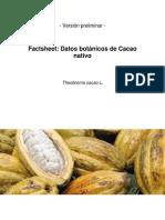 Cacao Nativo Factsheet Preliminar 25-10-2011