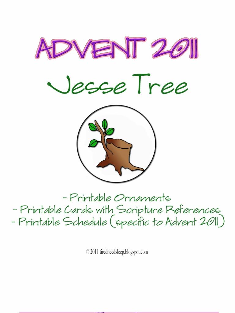 Jesse Tree Packet 2011