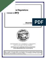 Alaska Board of Veterinary Examiners Statutes and Regulations