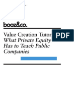 BoozCo Value Creation Tutorial Private Equity