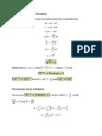 Persamaan Proses Adiabatis