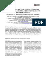 Fabricacion y Caracterizacion de Un Material Compuesto de Matriz Polimerica Reforzado Con PET Grado Botella