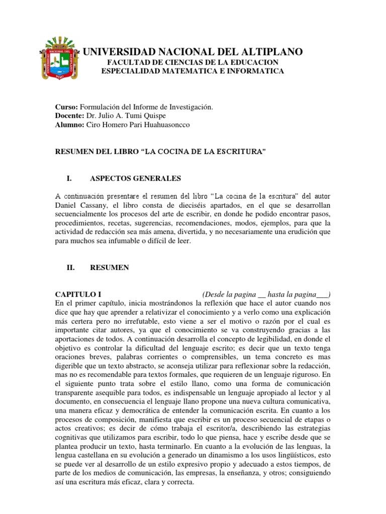 Magnífico Resume La Descripción Del Trabajo De Cocinero Cresta ...