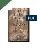 Jean Meslier - Crítica de la Religión y del Estado