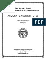 Arizona Board of Veterinary Examiners Statutes and Regulations