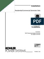 Kohler 20 RES Operation Manual