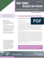 WW Improving Student Writing