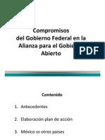 Compromisos de México con la Alianza para el Gobierno Abierto