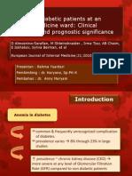 Jurnal Anemia in Diabetes