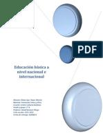 Educación básica a nivel nacional e internacional