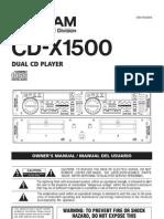 CD X1500 Manual